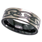 Geti Zirconium Chunky Celtic Knot Ring