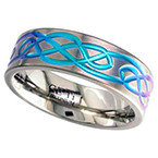 Geti Zirconium Anodised Knot Ring