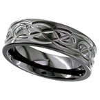 Geti Black Zirconium Knot Ring