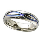 Geti Zirconium Anodised Infinity Ring