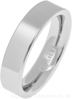 Cobalt 6mm Polished Flat Wedding Ring