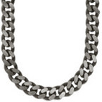Milled Curb Titanium Chain
