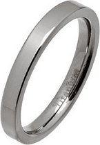 3mm Polished Flat Titanium Wedding Ring
