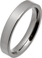 4mm Polished Flat Titanium Wedding Ring