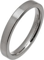 3mm Brushed Flat Titanium Wedding Ring