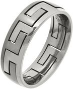 7mm Mens 2 Piece Titanium Puzzle Ring