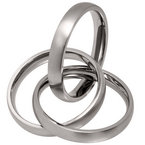 All Brushed 5mm Titanium Russian Wedding Ring