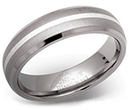 6mm Titanium Silver Design Ring