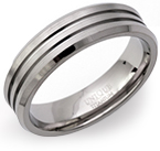 6mm Grooved Titanium Ring