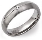 5mm Diamond set Contrasting Titanium Ring