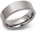 7mm Titanium Brushed Flat Band Ring