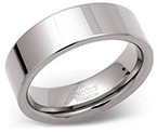 7mm Titanium Polished Flat Band Ring