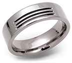 7mm Titanium Grooved Ring