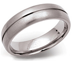 6mm Titanium Grooved Court Ring