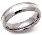 6mm Titanium Silver Band Ring