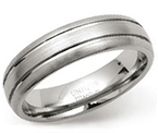 6mm Titanium Tramline Court Ring