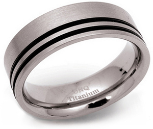 8mm Titanium and Rubber Ring