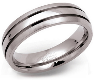 6mm Titanium Tramline Ring