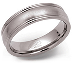6mm Double Edged Titanium Ring