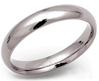 4mm Titanium Court Wedding Ring
