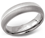 6mm Titanium Silver Court Ring