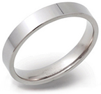 4mm Flat and Narrow Titanium Ring