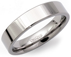 5mm Flat Titanium Ring