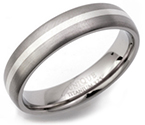 5mm Titanium and Silver Ring