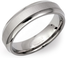 6mm Chamfered Titanium Ring